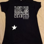 Womens 24 Hours T-Shirt in Black
