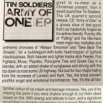 Tin Soldiers Army Of One Powerplay review Jan 2013