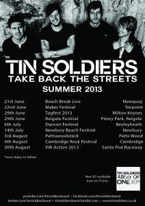 Tin Soldiers Summer gigs